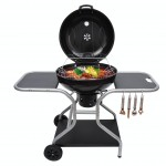 Outsunny Deluxe Charcoal Trolley BBQ