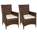 TecTake Poly Rattan Garden Chairs